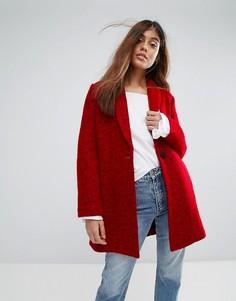 Шерстяное пальто Suncoo - Красный