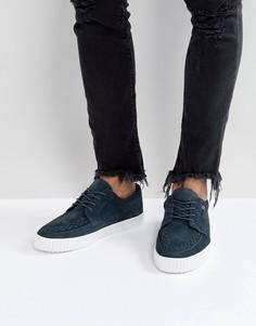 Замшевые кроссовки-криперы T.U.K - Серый TUK