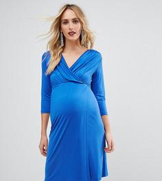 Платье с запахом ASOS Maternity NURSING - Синий