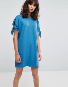 Трикотажное платье Weekday - Синий
