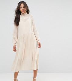 Свободное платье с оборками Y.A.S Tall - Кремовый