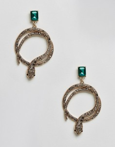 Серьги-кольца со змейками ALDO Crareven - Золотой