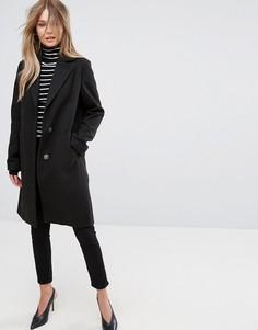 Строгое пальто New Look - Черный