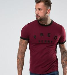 Фиолетовая футболка с круглым вырезом и вышивкой Fred Perry - Фиолетовый
