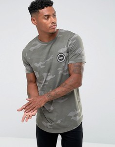 Светло-бирюзовая футболка с камуфляжным принтом Hype - Зеленый