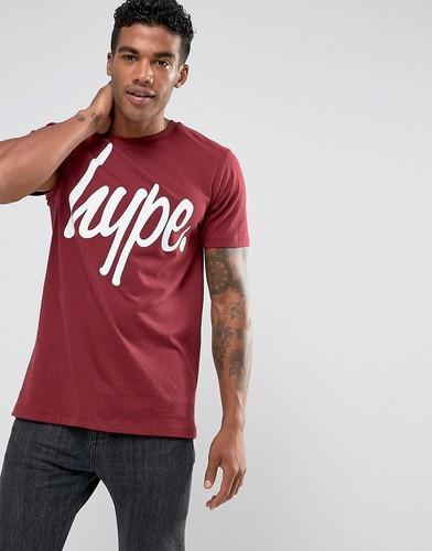 Бордовая футболка с логотипом Hype - Красный
