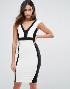 Платье-футляр с контрастной окантовкой Vesper - Мульти