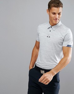 Синяя меланжевая облегающая футболка-поло Oakley Golf Gravity - Синий