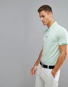 Зеленое меланжевое поло узкого кроя Oakley Golf Gravity - Зеленый