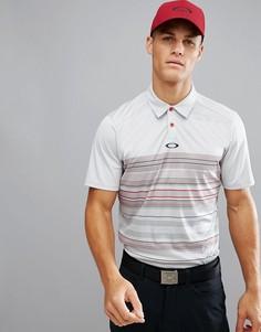 Серая/красная футболка-поло классического кроя с полосками Oakley Golf - Серый
