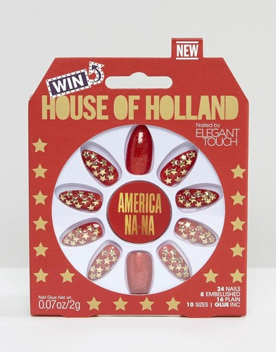 Накладные ногти House of Holland Luxe by Elegant Touch - Americana-Na - Красный