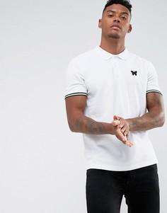 Белая обтягивающая футболка-поло Good For Nothing - Белый