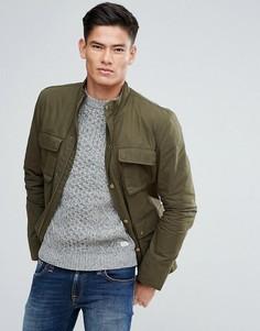 Куртка оливкового цвета с четырьмя карманами Jack Wills Kirkconnel - Зеленый