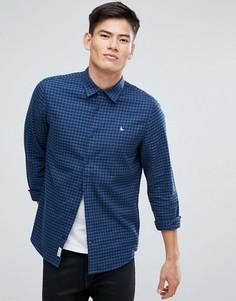 Темно-синяя фланелевая рубашка классического кроя в клетку Jack Wills Salcombe - Темно-синий