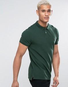 Зеленая футболка-поло из пике Jack Wills Aldgrove - Зеленый