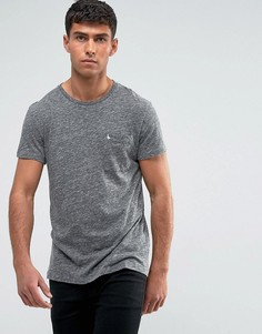 Серая меланжевая облегающая футболка с карманом Jack Wills Ayleford - Серый