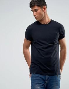 Черная облегающая футболка с карманом Jack Wills Ayleford - Черный