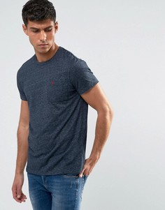 Темно-синяя облегающая футболка с карманом Jack Wills Ayleford - Темно-синий