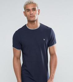 Темно-синяя футболка слим из ткани пике с кантом Jack Wills Gunnersbury - Темно-синий
