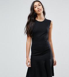 Платье с удлиненным краем Y.A.S Tall Cirano - Черный