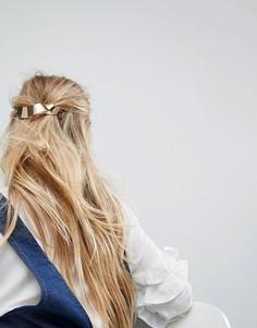 Заколка для волос с перекрученной планкой ASOS - Золотой