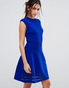 Приталенное платье Ted Baker - Синий