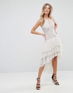 Платье с асимметричным подолом The Jetset Diaries Dalliance - Белый