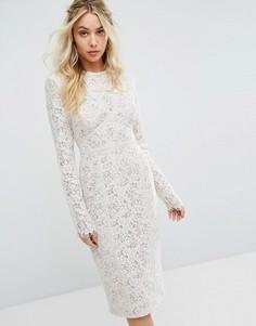 Облегающее платье миди The Jetset Diaries Dalliance - Белый
