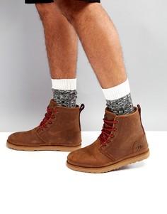Непромокаемые замшевые ботинки UGG Harkley Treadlite - Коричневый