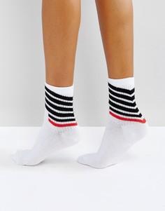 Носки в диагональную полоску ASOS - Белый