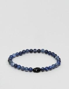 Браслет с синими бусинами из содалита и кристаллами Swarovski от Simon Carter - Синий