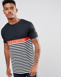 Черная футболка с полосками Hype - Черный