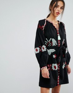 Платье с длинными рукавами Essentiel Antwerp Ophism - Черный