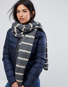 Трикотажный шарф в полоску Vero Moda - Серый