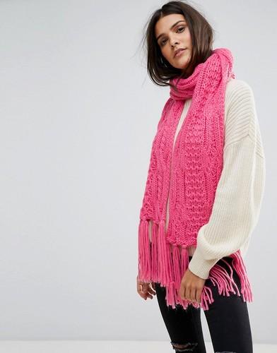 Шарф с кисточками Vero Moda - Розовый
