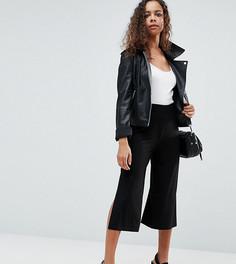 Широкие брюки с разрезами ASOS PETITE - Черный