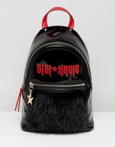 Лакированный рюкзак Gigi Hadid - Черный Tommy Hilfiger