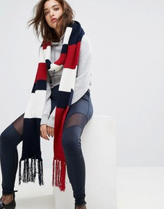 Шарф в полоску с логотипом Gigi Hadid - Мульти Tommy Hilfiger