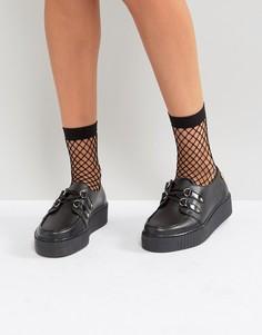 Кожаные туфли-криперы Gigi Hadid - Черный Tommy Hilfiger