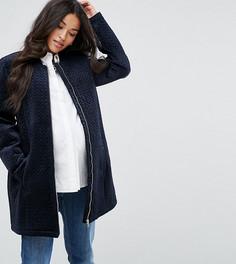 Куртка из бархата Mamalicious - Темно-синий Mama.Licious