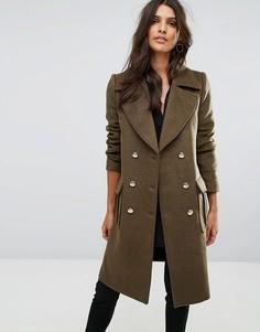 Двубортное пальто на металлических пуговицах Y.A.S - Красный