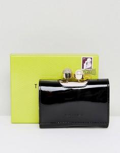 Маленький лакированный кошелек с искусственным жемчугом Ted Baker - Черный