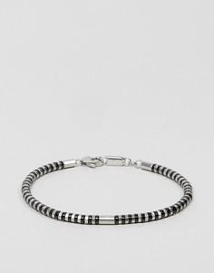 Браслет-цепочка с черными и серебристыми звеньями Emporio Armani - Черный