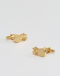 Позолоченные запонки ASOS - Золотой