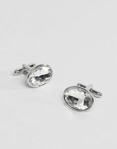 Серебристые запонки с кристаллами ASOS - Серебряный