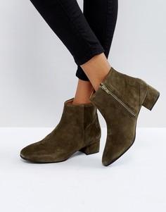 Замшевые ботинки Selected - Зеленый