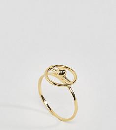 Позолоченное серебряное кольцо ASOS - Золотой