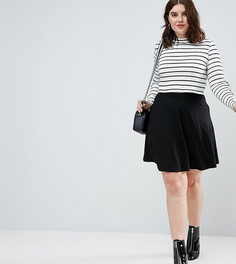 Короткая расклешенная юбка с карманами ASOS CURVE - Черный