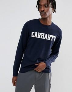 Джемпер Carhartt WIP College - Темно-синий