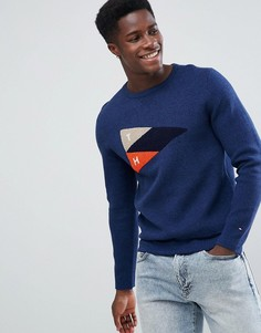 Синий свитер с круглым вырезом Tommy Hilfiger Bastian - Синий
